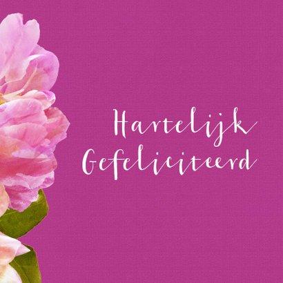 Verjaardagskaart pioenrozen boeket roze 3