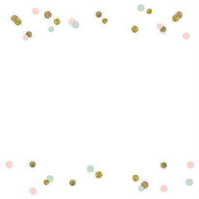 Verjaardagskaart praatwolk confetti 2
