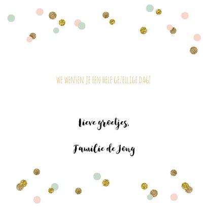 Verjaardagskaart praatwolk confetti 3