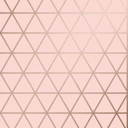 Verjaardagskaart roze It's your Birthday geometrisch 2