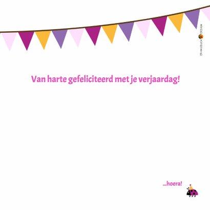 verjaardagskaart roze vogeltje in vogelhuisje - DD 3