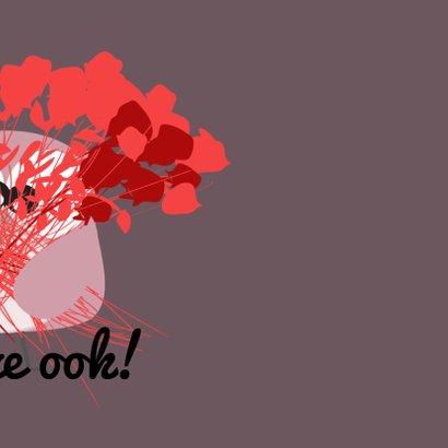 Verjaardagskaart rozen en uil mocards voor vrouw 3