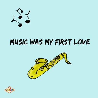 Verjaardagskaart Saxofoon PA 2