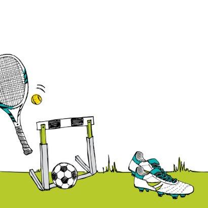 Verjaardagskaart sporten 2