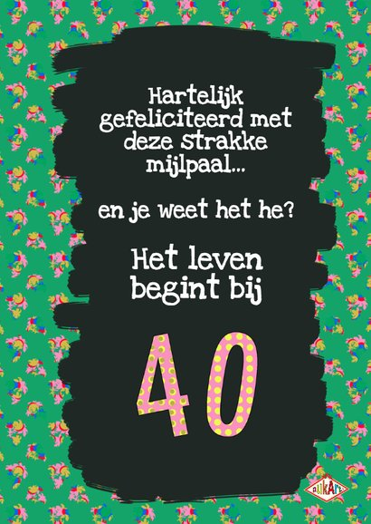 Verjaardagskaart strakke 40 3