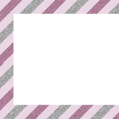 Verjaardagskaart streep pink  2