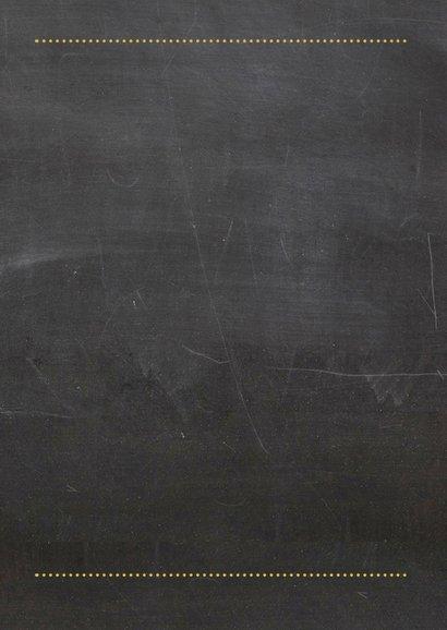 Verjaardagskaart vijftig chalkboard 2