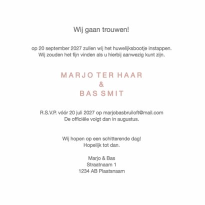 Verlovingskaart Marjo & Bas - DH 3
