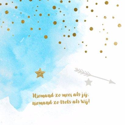 Watercolor confetti geboortekaartje jongen - LO 2