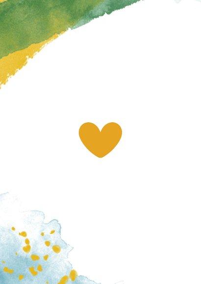 You are loved felicitatiekaart geboorte jongen waterverf 2