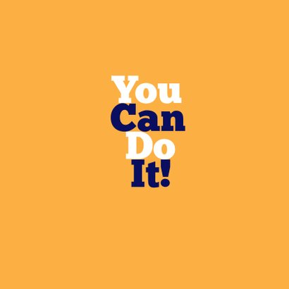 You Can Do It! - KO 2
