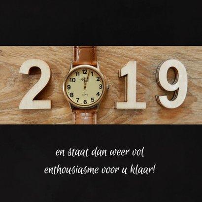 Zakelijke kerst horloge aftellen 2018 - 2019 3
