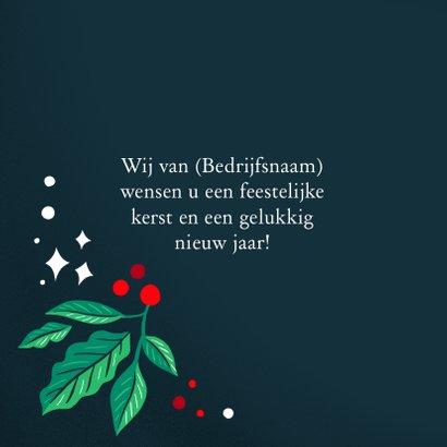 Zakelijke kerstkaart rood groen met logo en foto 2