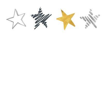 Zakelijke kerstkaart sterren en foto 2