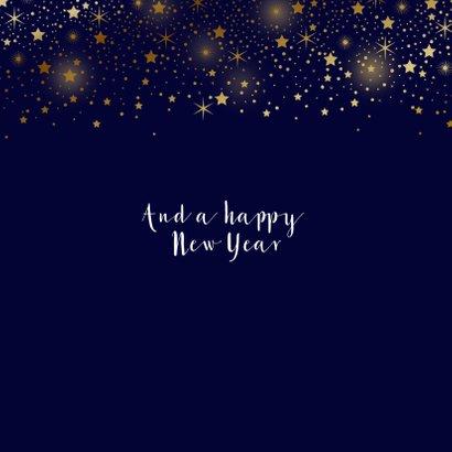Zakelijke kerstkaart sterren goud glitterlook  2