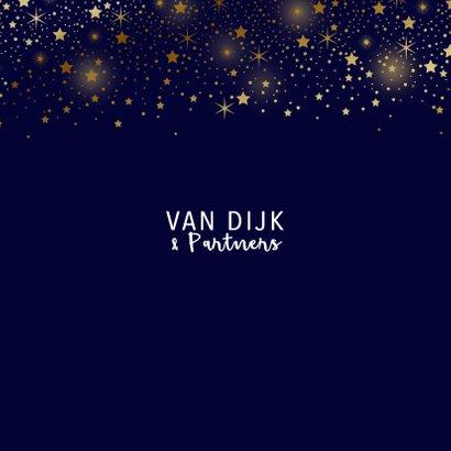 Zakelijke kerstkaart sterren goud glitterlook  3