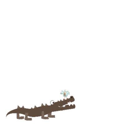Zomaar kaart; krokodil en vogel 2