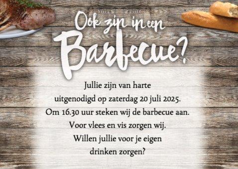 Barbecue uitnodiging met wijn en bier 2