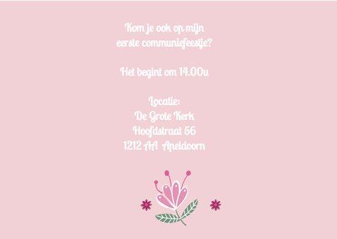 Communie meisje roze hart 3