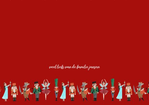 De notenkraker ballet kerstkaart 3