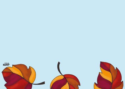 Dierenkaart Kat in de herfst  - SK 3