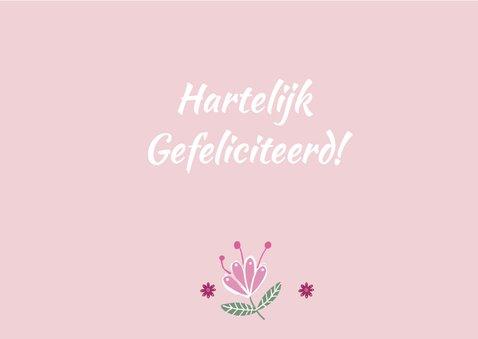 Felicitatie communie roze hart 3