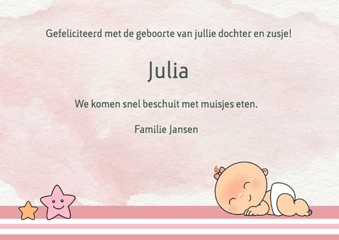 Felicitatie geboorte voor zus 3