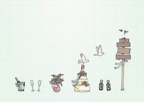 Felicitatie trouwen pick-up - AV 3