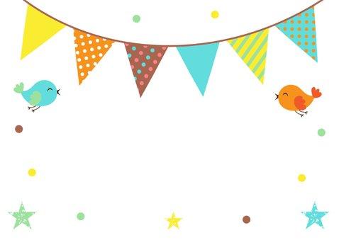 Felicitatie zwangerschap slinger confetti  2