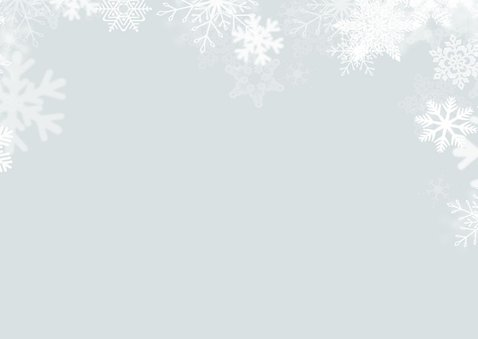 Foto kerstkaart sneeuw goud Merry Christmas 2