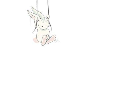 Geboortekaart jongen, ballonnen met konijn 3