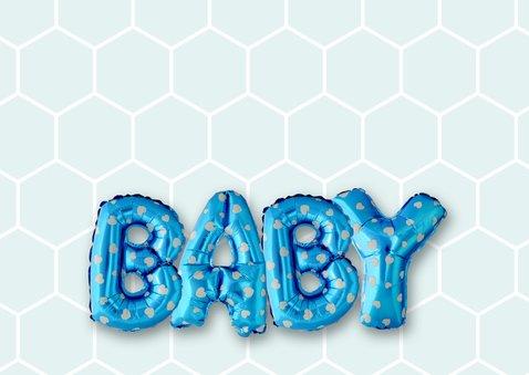 Gefeliciteerd baby ballonnen blauw 2