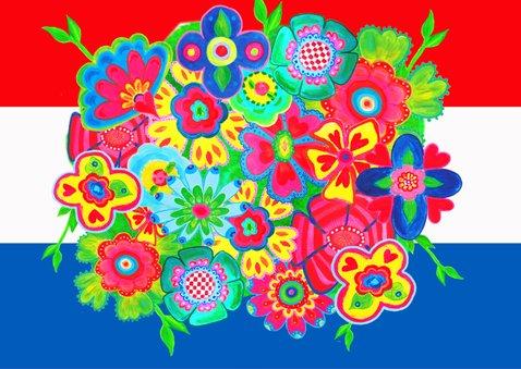 Geslaagd kaart bloemvlag PA 2