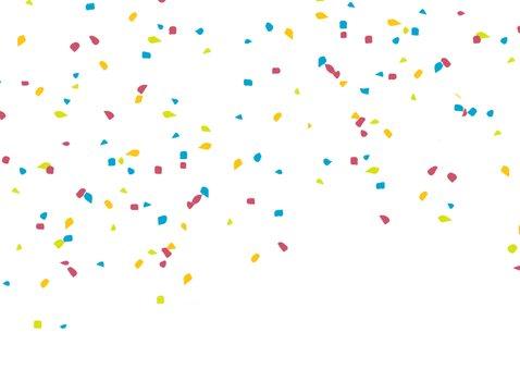Geslaagd kaart rijbewijs met confetti en trompet 2