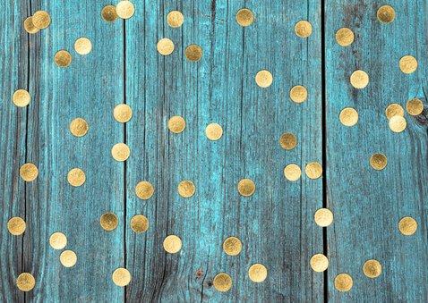 gouden ballonnen verjaardagskaart 2