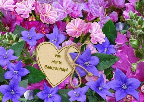 Grappige opkikker met hart en bloemen 3