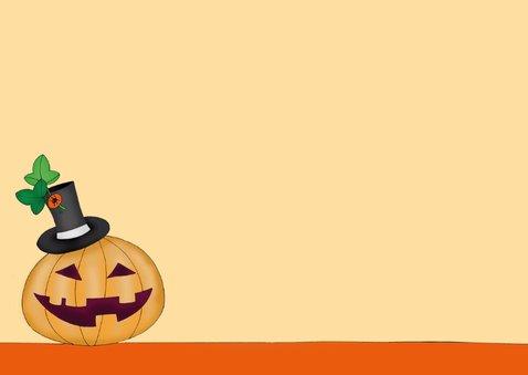 Halloween Kat en pompoen met hoedje  - SK 3
