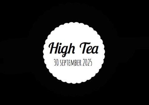 High Tea Uitnodiging Zwart Wit 2