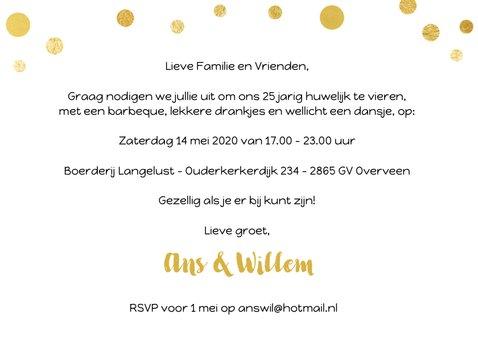Jubileum gouden ballonnen met confetti 3