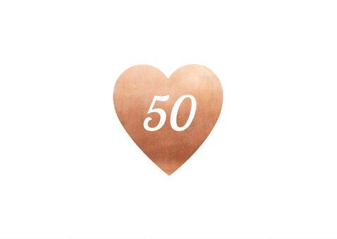 Jubileum hart 50 jaar getrouwd 2