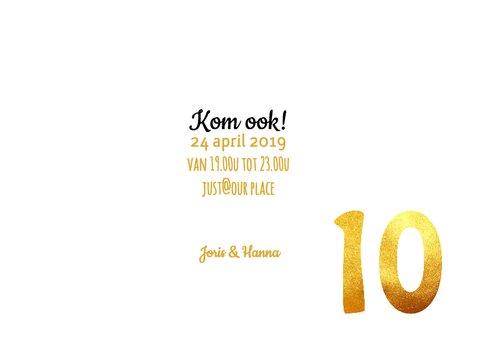 Jubileum uitnodiging 10 jaar goud 3