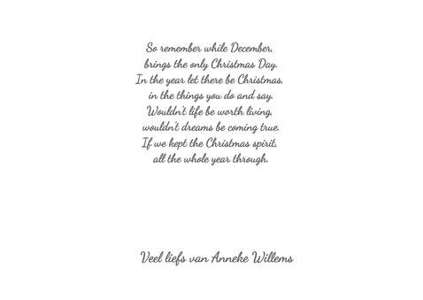 Kerst banner zwart-wit liggend  3