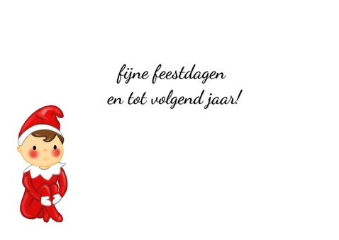 Kerst Elf on a Shelf - TbJ 3