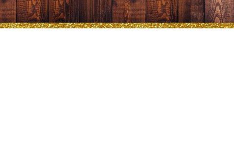 Kerst foto hout glitter goud 2