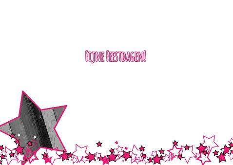 Kerst foto ster roze hout L-HB 3