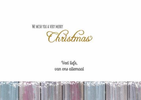 Kerst hout foto lief goud 3