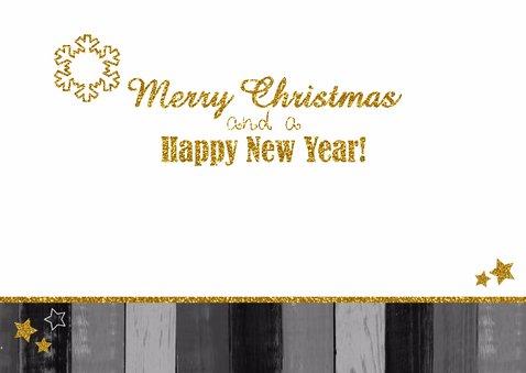 Kerst hout grijs goud glitter 3
