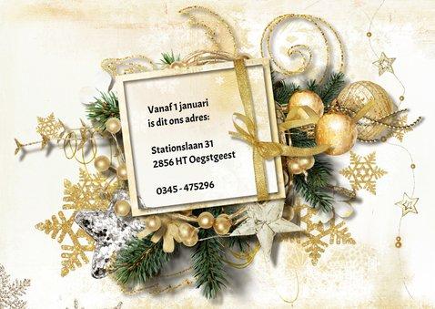 Kerst verhuiskaart 2 in 1 traditioneel - SG 2