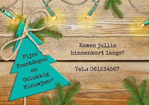 Kerst-verhuiskaart adreswijziging sleutel met label 3