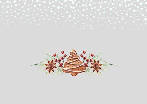 Kerst-verhuiskaart huisjes met kerstkoekjes 2